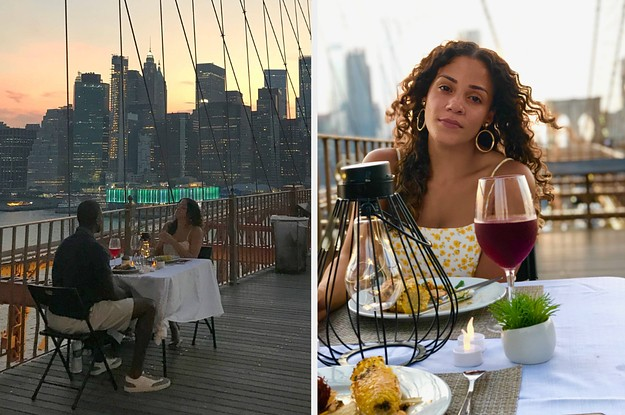 This Couple Is Doing Pop-Up Dining Date Nights All Over New York City, Including The Brooklyn Bridge