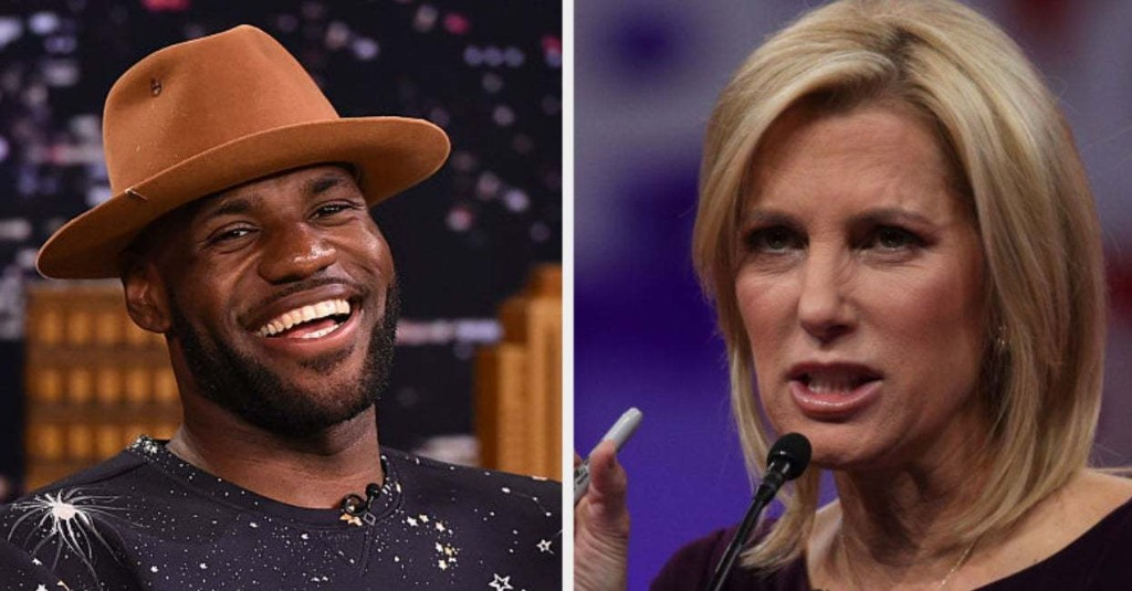 LeBron James Exposes Laura Ingraham For Her Hypocrisy In The Way She Talks About Black Athletes Vs. White Athletes