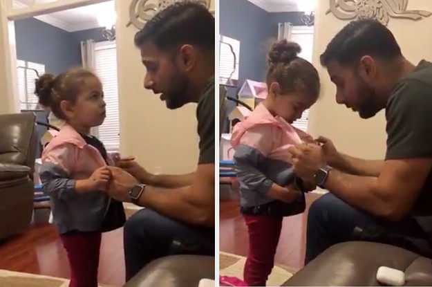 This Little Girl Came Home From School With A New Jacket And She Handled Her Dad's Interrogation Like A Pro