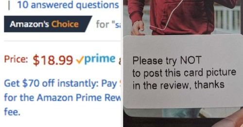 These Amazon's Choice Sellers Bribe Customers For Good Reviews