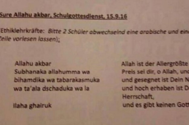Children In Germany Are Not Being Forced To Recite Muslim Prayers