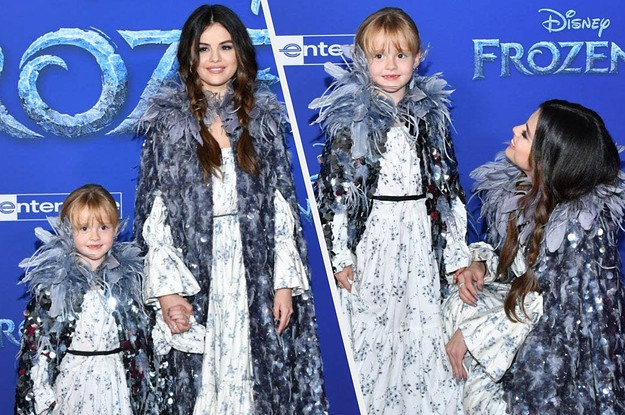 """Selena Gomez Brought Her Little Sister To The """"Frozen 2"""" Premiere And I'm Melting"""