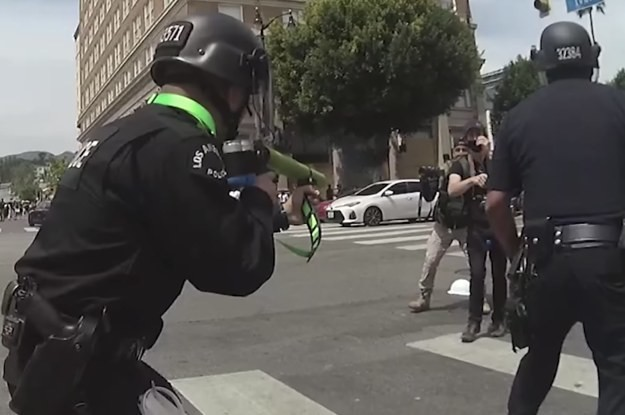 New Video Shows An LAPD Officer Shooting A Protester Directly In The Groin With A Foam Projectile