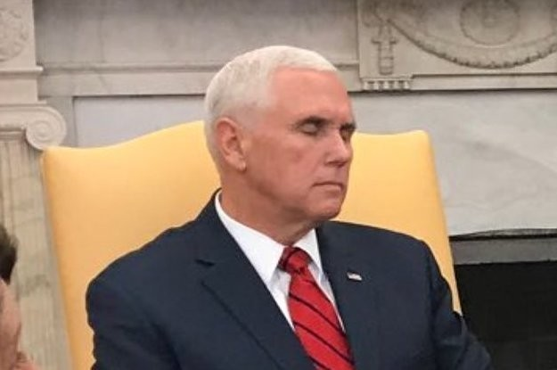 Mike Pence Spent Trump's Whole Meeting With Pelosi And Schumer Looking Like He Was Asleep