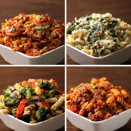 Rotini Pasta 4 Ways   Recipes