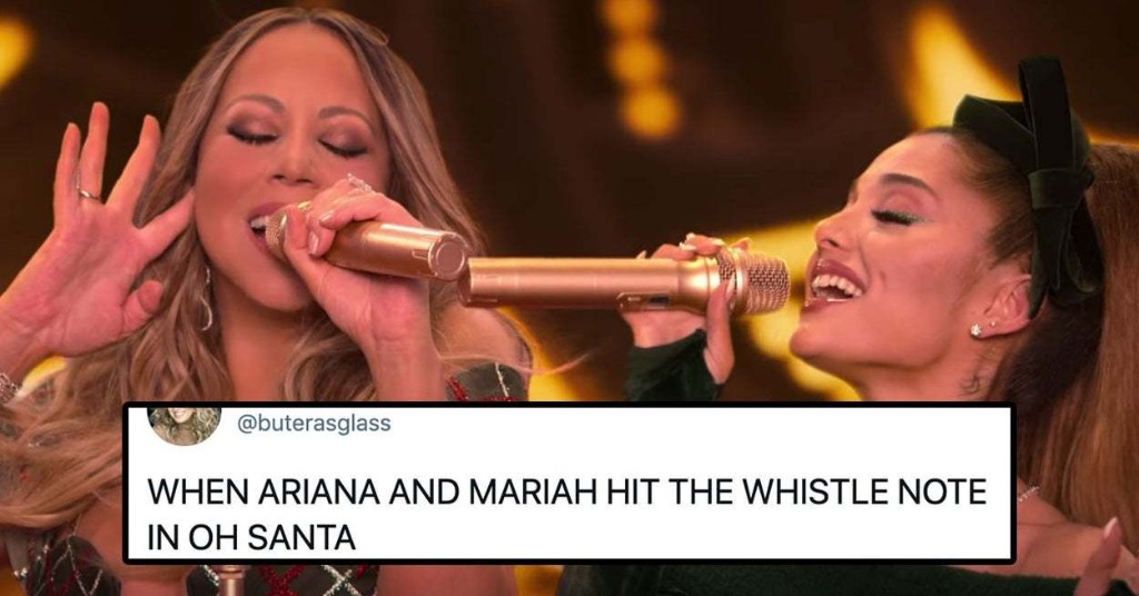 People Can't Stop Talking About Mariah Carey And Ariana Grande's Iconic Whistle Harmony In Mariah's New Christmas Song, And I Don't Blame Them