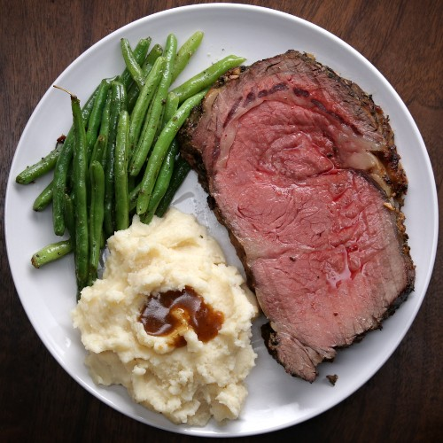 Prime Rib With Garlic Herb Butter Recipe by Tasty