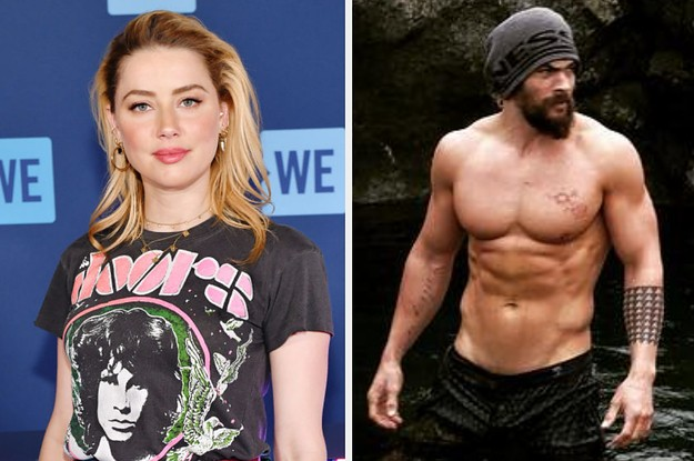 Amber Heard Called Out Instagram's Double Standards On Nudity With A Topless Photo Of Jason Momoa