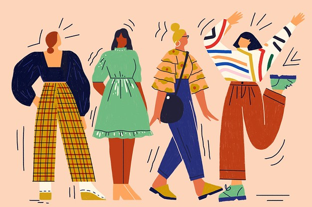 Women In  Stages Of Dress  - Cover
