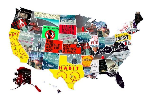 Here Is The Most Popular Book In Each State