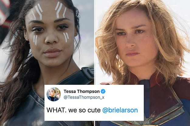 Brie Larson And Tessa Thompson Are The Only People Who Ship Their Marvel Characters More Than I Do