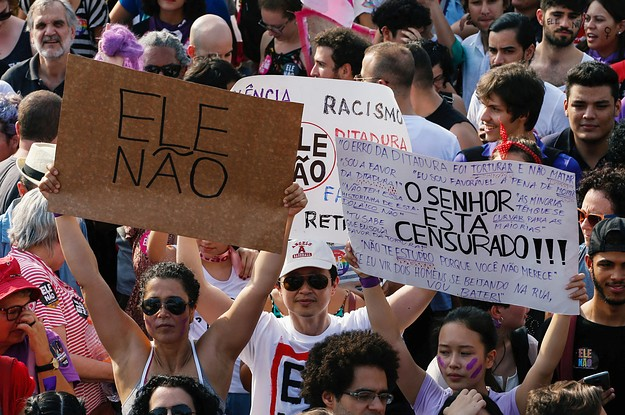Women Took To The Streets In Thousands To Protest Brazil's Version Of Trump