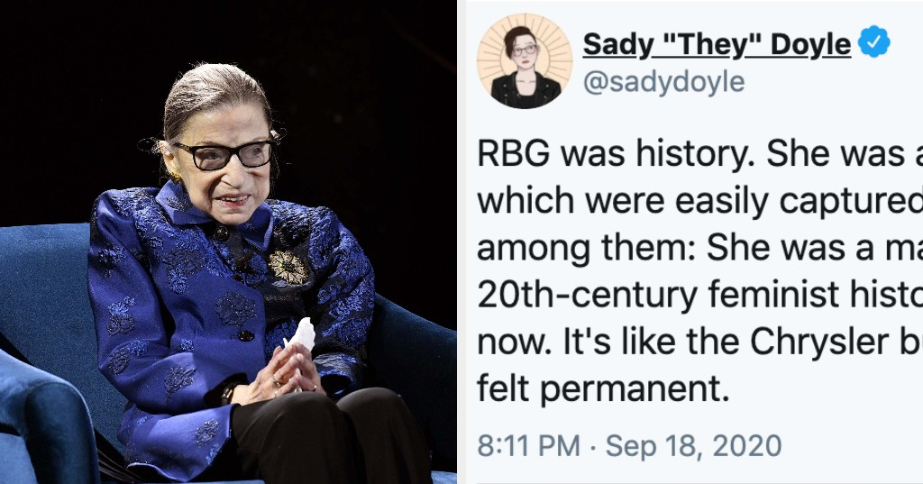 """Ruth Bader Ginsburg Is Being Remembered As A """"Feminist Icon And American Hero"""""""