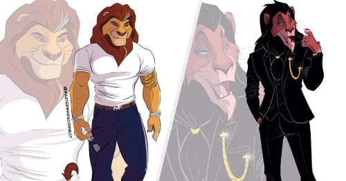 """This Artist Is Spending His Quarantine Drawing """"The Lion King"""" Characters As Humans And...Wow"""