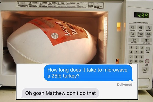 "Moms Falling For The ""How To Cook A Turkey In The Microwave"" Prank Is My New Favorite Thing"