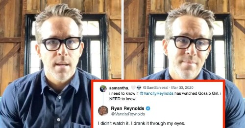 Ryan Reynolds Is Really Bored In Quarantine, So He's Hilariously Responding To Tweets