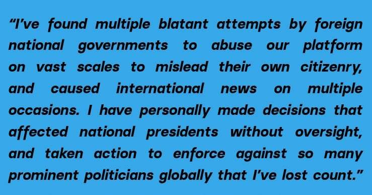 """""""We Simply Didn't Care Enough"""": A Whistleblower Says Facebook Ignored Global Political Manipulation"""