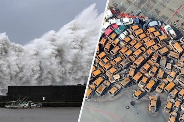 People Posted Terrifying Videos As A Huge Typhoon Crashed Into Japan