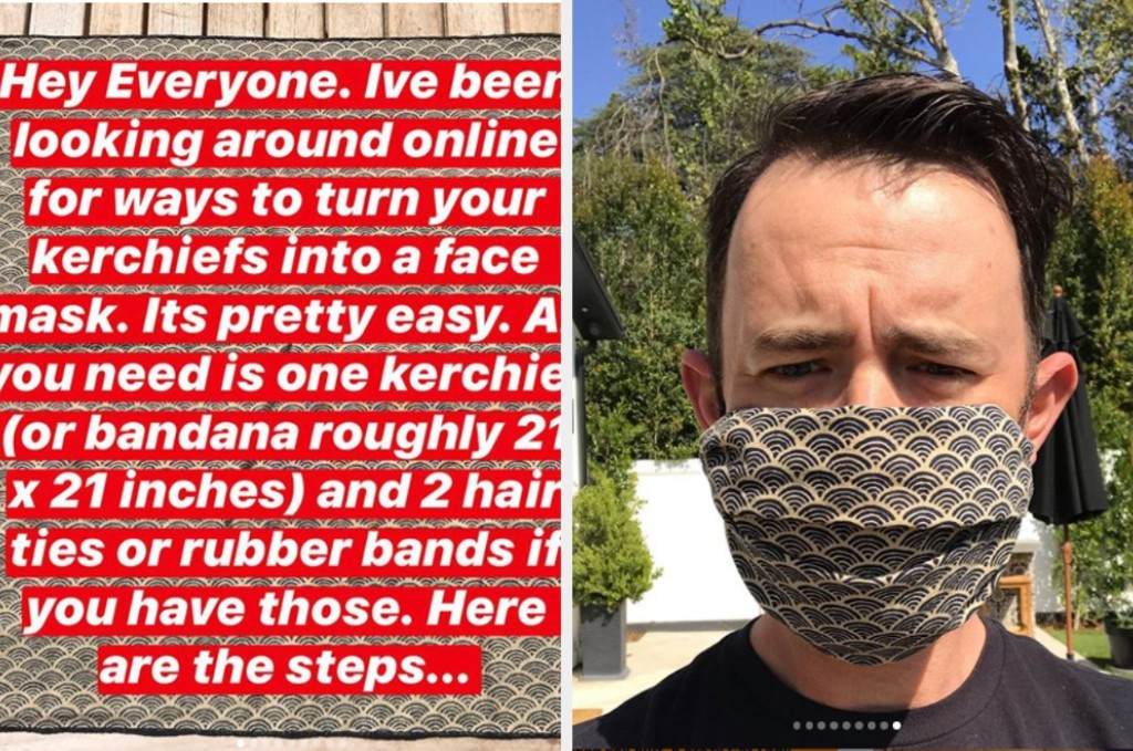 Colin Hanks Posted A Step-By-Step Guide On How To Make A DIY Face Mask And It's Super Easy To Make