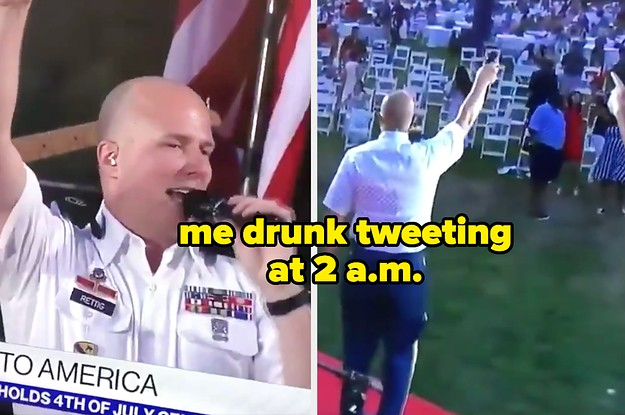 This White Guy Singing Bruno Mars To An Empty Crowd At Trump's Fourth Of July Event Is Now A Meme