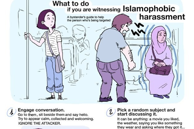Someone Made A Guide For What To Do When You See Islamophobia And It's Perfect