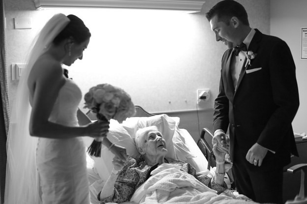 This Groom Surprised His Grandma In The Hospital On His Wedding Day