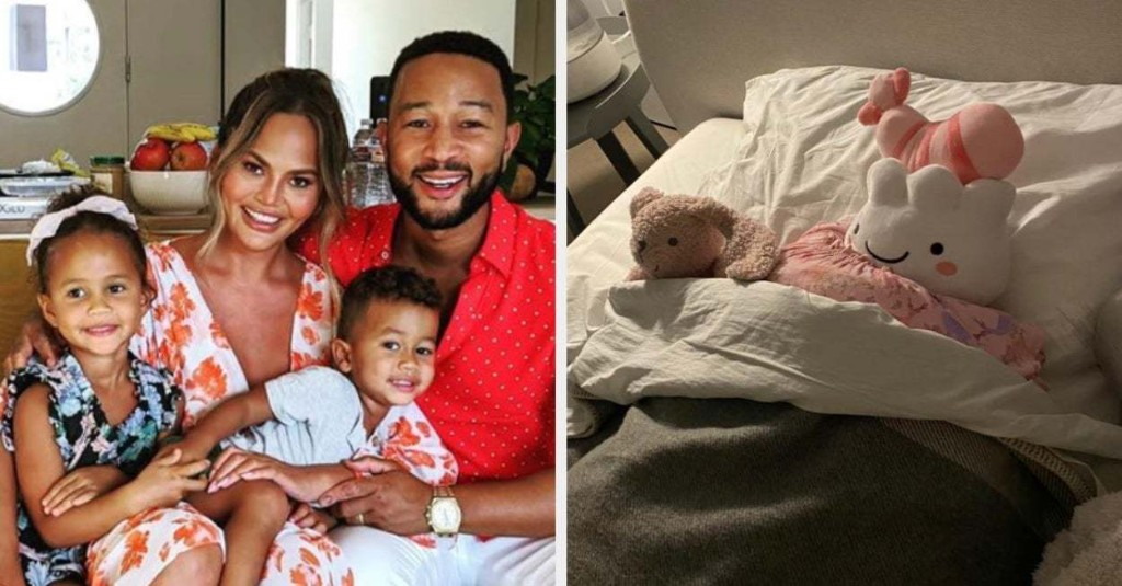 Chrissy Teigen Revealed Her Daughter Has Started Sneaking Out Of Bed At Night And The Pictures Are Hilarious