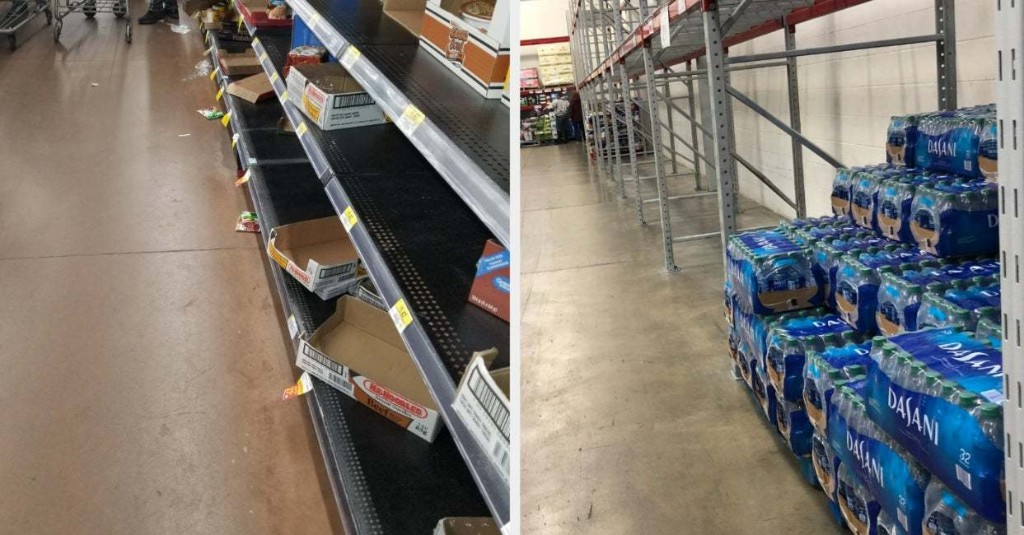 People Are Panic Buying Food And Water Due To Coronavirus But Still Not Buying Dasani Water