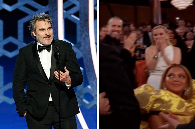 """Beyoncé Was Called """"Thoroughly Distasteful"""" Because She Didn't Stand Up For Joaquin Phoenix At The Golden Globes"""
