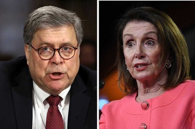 Nancy Pelosi Says Attorney General Bill Barr Committed A Crime