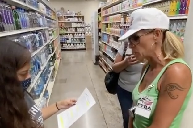 """An Anti-Mask """"Agency"""" Told A Grocery Store Worker She Could Be Sued For Asking People To Wear Masks"""