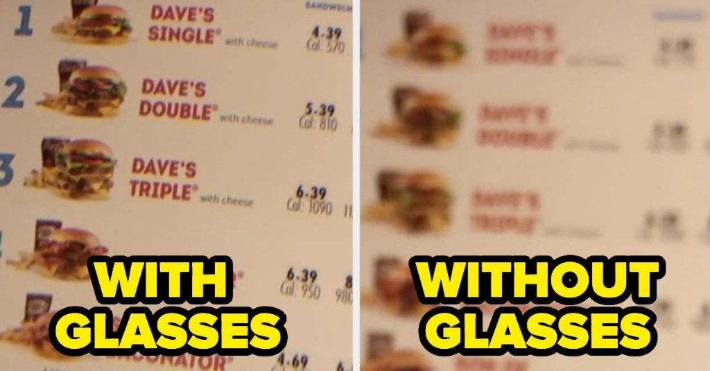 Here's A Cool Way To Show Someone How You See Without Your Glasses