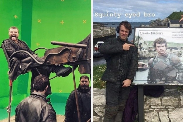 """24 Behind-The-Scenes """"Game Of Thrones"""" Photos From The Cast That Will Make You Laugh And Then Cry"""
