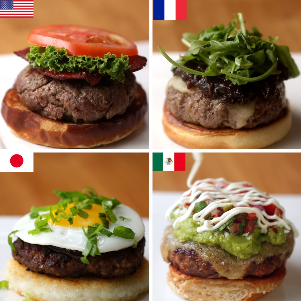 4 Burgers Around the World   Recipes