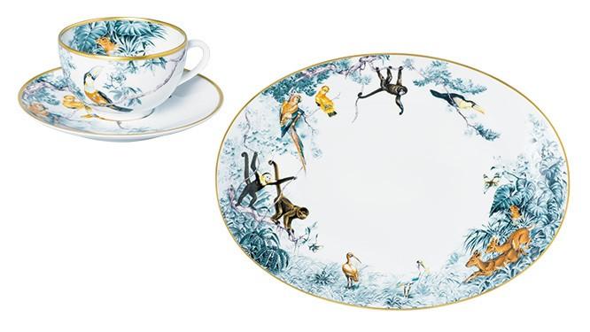 野生の楽園が描かれた〈エルメス〉の新作テーブルウェア。