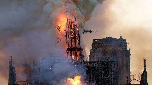 Fire ravages Notre Dame Cathedral, but landmark's towers are saved