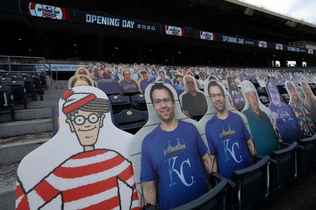 Fans at MLB games look a little different this season