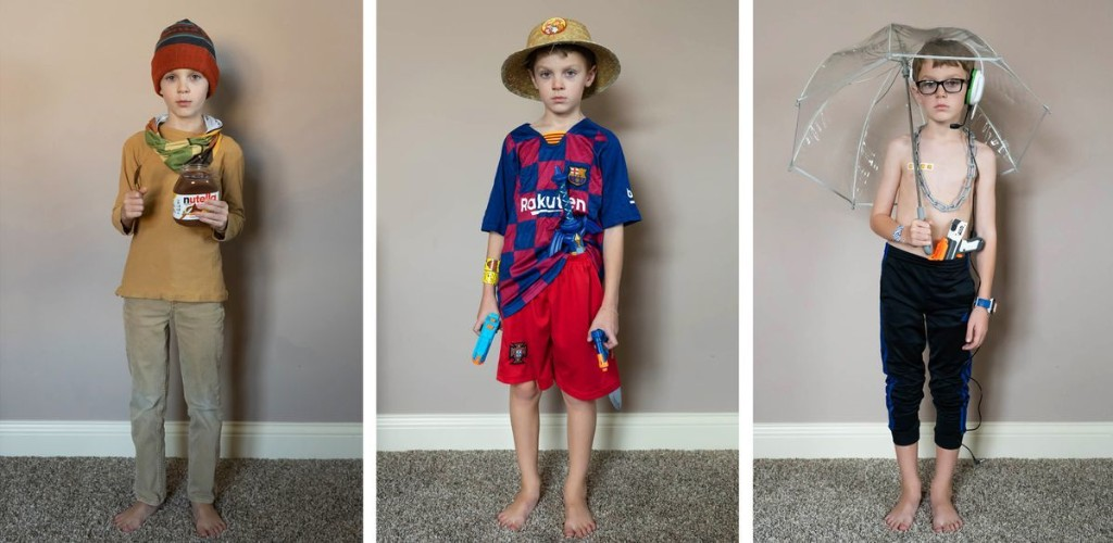 Karen Osdieck's portraits of her son's home-school outfits