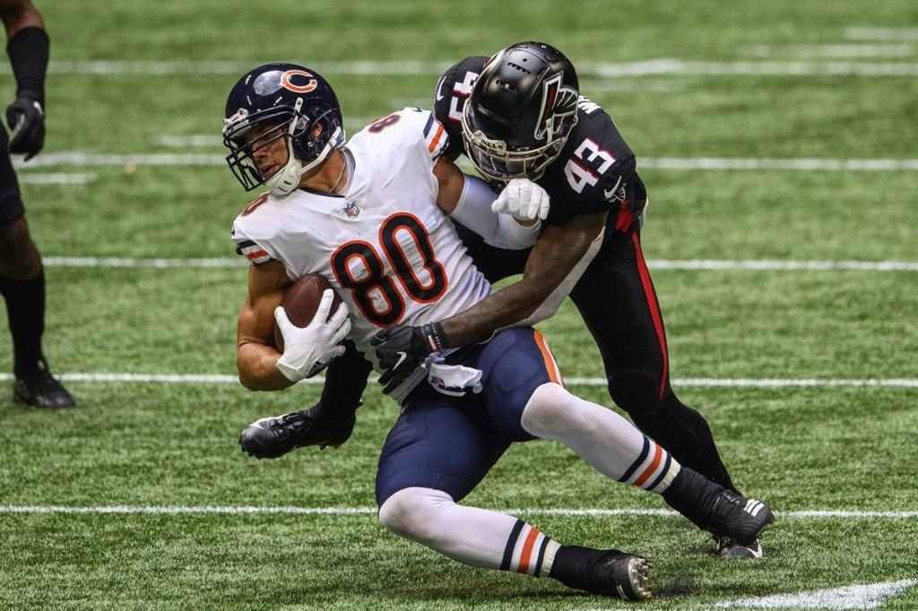 What we heard from each Bears position coach after Week 3, including replacing Tarik Cohen, Jimmy Graham's energy and Akiem Hicks' 'ferocious' game