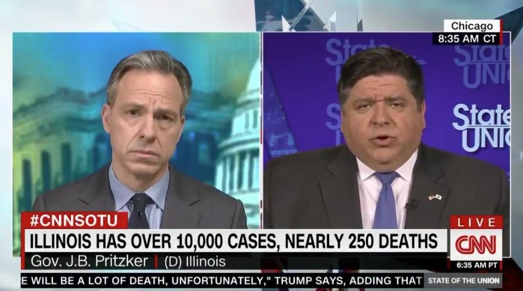 Gov. J.B. Pritzker calls for more ventilators, criticizes federal government in CNN appearance