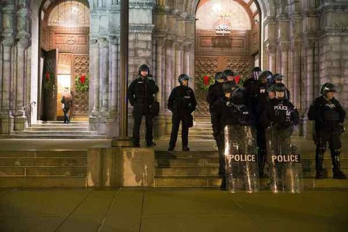 Protests flare after Missouri police killing near Ferguson