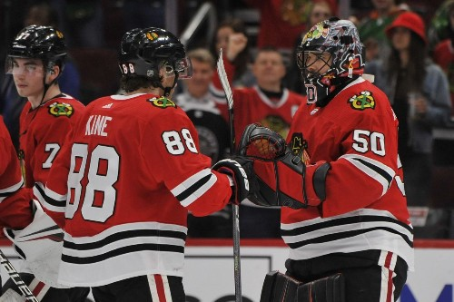 Uncertainty about NHL's next step in response to coronavirus overshadows Blackhawks' 6-2 win over Sharks