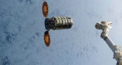 Cargo ship carrying groceries, 3-D printer and possibly Easter eggs arrives at space station