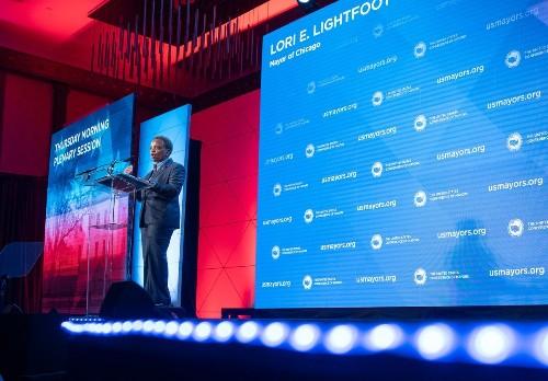 Mayor Lori Lightfoot tells U.S. mayors Chicago deals with a mass shooting every week