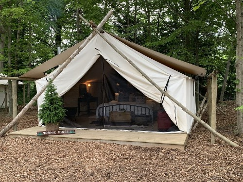 New glamping spot in Michigan brings luxury to a blueberry farm
