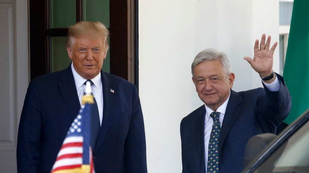 After years of insults and threats, Trump calls Mexico a cherished partner in meeting with president López Obrador