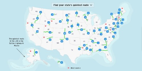 America's Loneliest Roads, Mapped