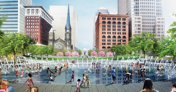 Downtown Cleveland Is Turning a Traffic Hub Into a Public Park