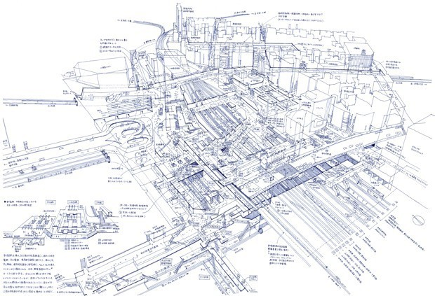 An X-Ray View of Tokyo's Complex Architecture