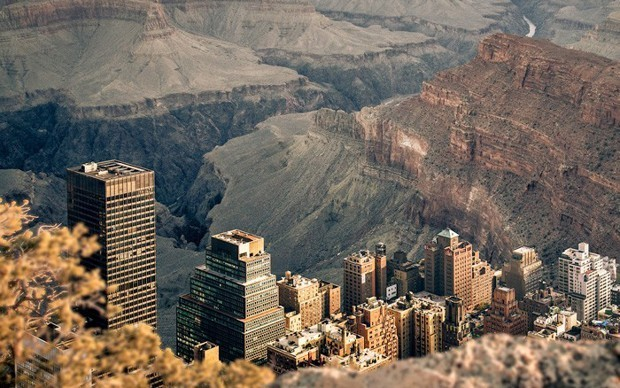 This Is What It Would Look Like If You Dropped Manhattan Into the Grand Canyon